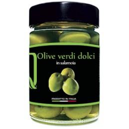 Quattrociocchi - Eingelegte süße Oliven (grün) - 350g