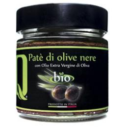 Quattrociocchi - Olivenpastete mit schwarzen Oliven in nativem Olivenöl extra - 190g