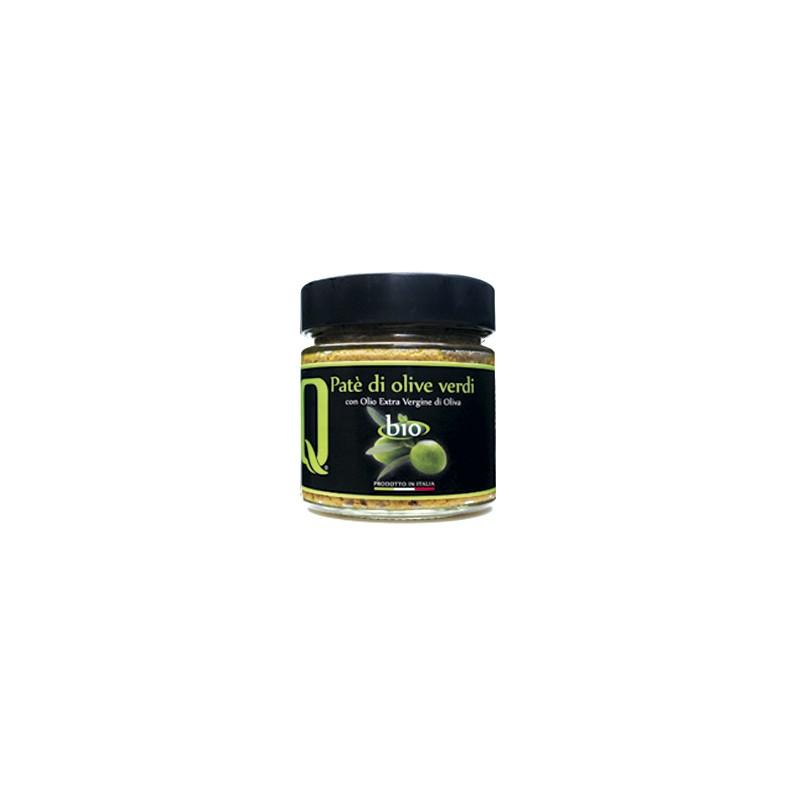 Quattrociocchi - Olivenpastete mit grünen Oliven in nativem Olivenöl extra - 190g