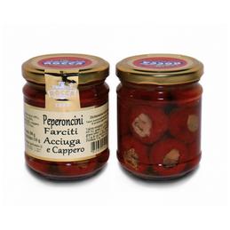Rocca Luigi & Figlio - Paprikaschote mit Sardellen du Kapern in Olivenöl - 180g