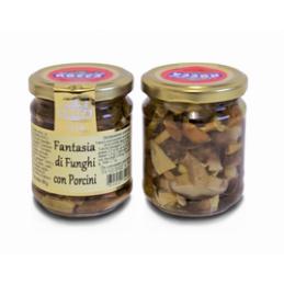 Rocca Luigi & Figlio - Fantasie von Pilzen mit Steinpilzen ( Eingelegte Pilze) in Olivenöl - 190g